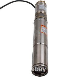 3 370 W Borehole Deep Well Water Submersible Electric Pump + Câble De 15m