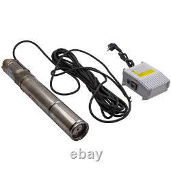 3 Forage Deep Well Water Submersible Water Pump 1800 L/h 370w Acier Inoxydable