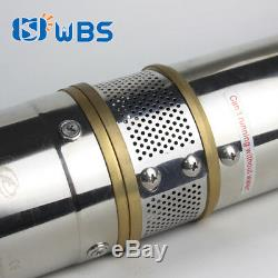 3 Pompe Pour Puits Profond Dc-eau Solaire Submersible 48v 400w Bore Trou Mppt Contrôleur