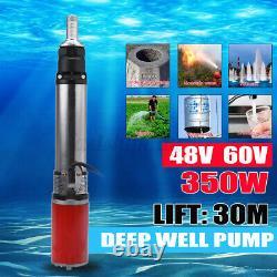 350w Vis Submersible DC 48v/60v 99 Ft Débit D'eau 3-5m³/h Puits Profond
