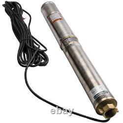 4 0.75hp Forage Deep Well Submersible Water Pump 4000l/h Long Life + Cable
