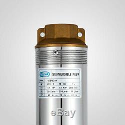 4 1.5hp Puits Profond Pompe À Eau Submersible En Acier Inoxydable 341ft 25.5gpm 220 V