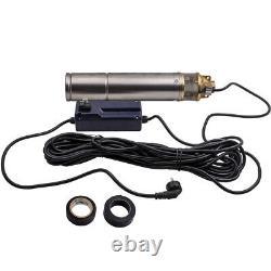 4 1hp 2600l/h Borehole 4 Pompe À Eau Submersible À Puits Profond + Câble De 20m