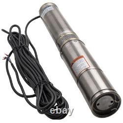 4 370w Borehole Deep Well Submersible Water Pump 6000 L/h Long Live + Câble De 20m