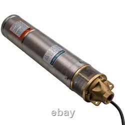 4 750w Trou De Forage En Acier Inoxydable Puits Profond Pompe À Eau Submersible 2600 L / H