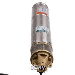 4 Acciaio Inox Profondo Pozzo Pompa Elettropompa Pompa Sommersa 750 W 2600 L / H