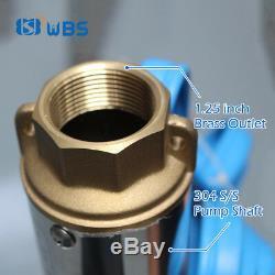 4 DC Puits Profond Eau Solaire Bore Pompe Kits 110v 2hp Irrigation Agricole Submersible