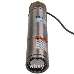 4 Garden Home Pump 750w 2600l/h Borehole Deep Well Pompe À Eau Submersible
