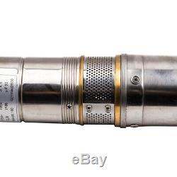 4 Pollici 500w 2800 L / H 8 Bar Pompa Sommersa Per Pozzi Elettropompa Acciaio Inox