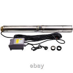 4 Pollici Pompa Per Pozzi Profondi Pompa Sommersa 6.000 L/h 750 W-acciaio Inox