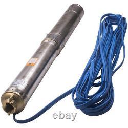 4 Pompa Sommersa 1hp Elettropompa Acciaio Inox 750w 81m De Profondeur Pompe De Puits