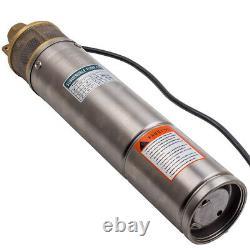 4 Pouces 750w 2600l/h Submersible Deep Well Borehole Water Pump + Câble De 20m