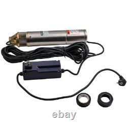 9 Barres Durable 4inch 2600l/h Forage Deep Well Submersible Water Pump 20m Câble