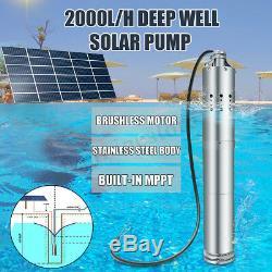 DC 24v 2000l / H Mppt Farm & Ranch Solar Power Bore Submersible De Puits Profond Pompe À Eau