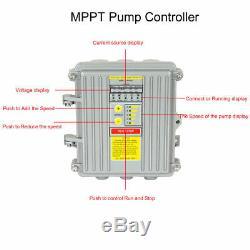 DC 36v Deep Water Puits Submersible Pompe 1 / 2hp 3 Pouces Inoxydable Solaire Pompe À Vis