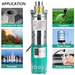 DC 48v/60v 380w 55m Lift Max 1.2m³/h Deep Well Power Submersible Water