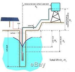 Dc24v Submersible Brushless Solaire Pompe À Eau 5000l / H 10m Head Max Pompe Pour Puits Profond