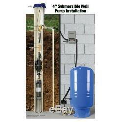 Deep Well Potable Pompe À Eau Submersible 2 Fils Moteur 1/2 HP Everbilt Plomberie