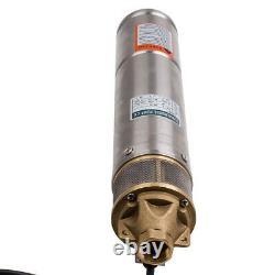 Durable 4inch 750w 2600l/h Borehole Deep Well Pompe À Eau Submersible 20m Câble