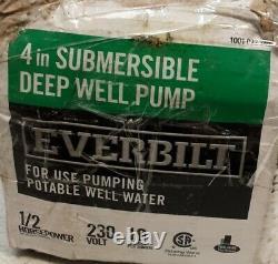 Everbilt 1/2 HP Submersible 2 Fils Moteur 10 Gpm Puits Profond Pompe À Eau Potable (o)