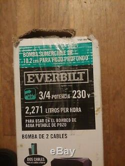 Everbilt 3/4 HP Submersible 2 Fils Moteur 10 Gpm Puits Profond Pompe À Eau Potable