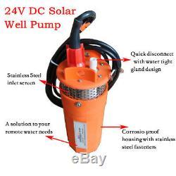 Ferme 24v DC Submersible Profonde Solaire Pompe De Puits D'eau Solaire Énergie Alternative Superbe
