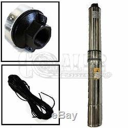 L'eau De Puits Submersible En Profondeur Pompe 1/2 0,5 HP 110v Sortie En Laiton 1 1/4 Nouveau