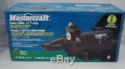 Mastercraft 3 / 4cv Fonte Pompe À Jet Convertible 561472 Shallow Deep Well 2