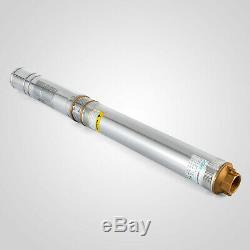 Nouveau 4 (102mm) Bore Submersible 1.5 HP Pompe À Eau De Puits Profond 110v 380ft 24gpm