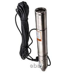 Pompa Sommersa Per Pozzi Da 3 Elettropompa 2100 L/h 370w 230v 80m Acciaio Inox