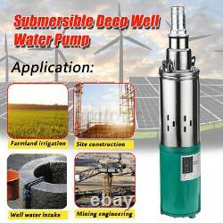 Pompe À Eau Solaire 220w 1.2m³/h Farm Ranch Submersible Bore Hole Deep Well