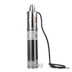 Pompe À Eau Solaire 3m³/h 120m Tête Max Submersible Brushless Deep Well Pump Kit