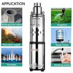 Pompe À Eau Solaire Deep Well Lift 60m 24v / 48v DC Vis Submersible Irrigation Kit
