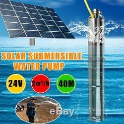 Pompe Solaire Submersible Eau 2m3 / Heure 40m Head Deep Well Kit Contrôleur Interne
