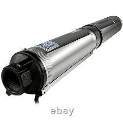 Pompe Submersible, 4 Deep Well, 1/2 Hp, 220v, 25.5gpm, 164ft Max, Longue Durée De Vie Us