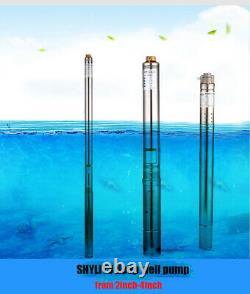Shyliyu Home Deep Well Pompe À Eau Submersible Pompe À Vis 220v/50hz 0,5ch 2tube
