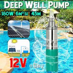 Submersible 12v 25m Lift Débit Max 6m³ / H Solar Energy Deep Well