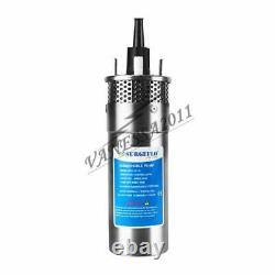 Submersible À Coque Inoxydable 24v 3.2gpm 4 Pompe D'eau Profonde DC /batterie Solaire