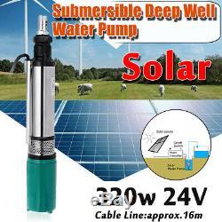 Us 320w 260w 24v Pompe Submersible Solaire Ferme Électrique Profonde D'eau Puits De Forage Pompe