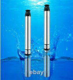 Vente À Chaud 220v 1hp Pompe Submersible En Acier Inoxydable Eau Profonde 2850r/min
