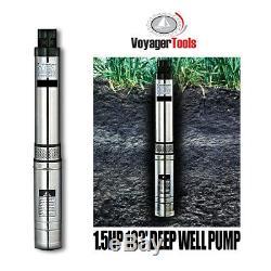 Voyager Outils Deep Well Pump 1.5hp Approvisionnement En Eau